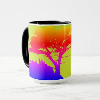 Family Tree Silhouette Photo Vintage Mug