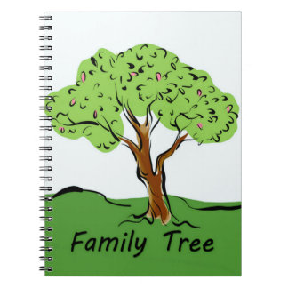 Family Tree Spiral Note Books
