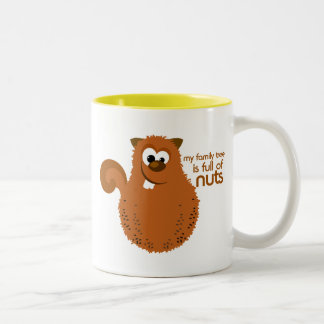 Family Tree Squirrel Funny Genealogy Quote Two-Tone Coffee Mug