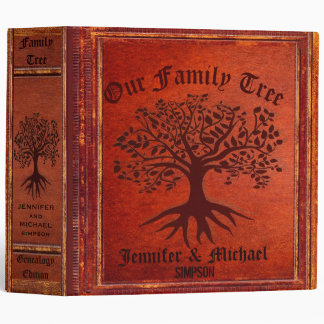 Family Tree | Vintage Genalogy 3 Ring Binders