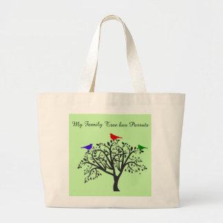 Family Tree with Parrots Jumbo Tote Bag