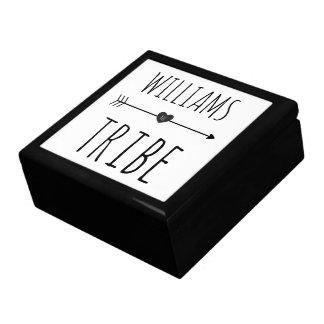 Family Tribe Minimal Monogram Tile Box