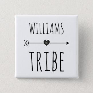 Family Tribe Monogram Button
