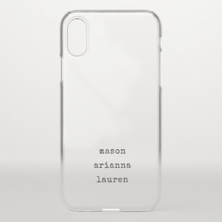 Family Type | Your Children's Names iPhone X Case