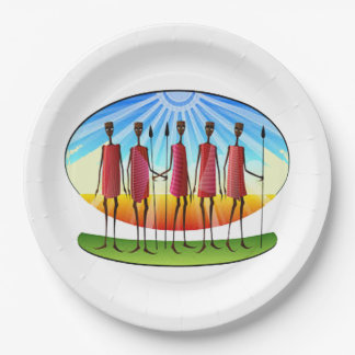 Family Unity Kwanzaa Party Paper Plates