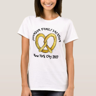 Family Vacation Personalized Pretzel New York NYC T-Shirt