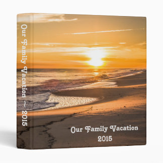 Family Vacation Photo Album with Beach Sunset Binders