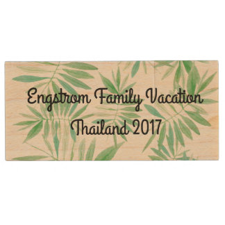 Family Vacation Photo drive - Tropical Wood USB 2.0 Flash Drive