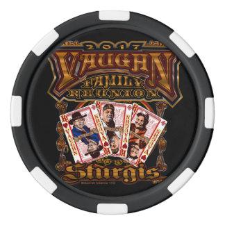 Family Vaughn Reunion black Poker Chip