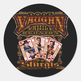 Family Vaughn Reunion round stickers