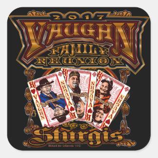Family Vaughn Reunion square stickers