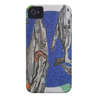 Family whales Case-Mate iPhone 4 case