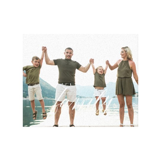FAMILY White Overlay Gift Photo Canvas