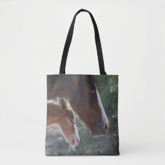 Family Wild Horse Band Tote Bag