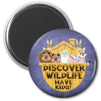 Family Wildlife 2 Inch Round Magnet
