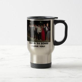 family with stubs, DAD IS 'DA BOMB! I LOVE YOU! Travel Mug