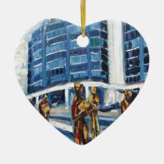 famine memorial ceramic heart ornament