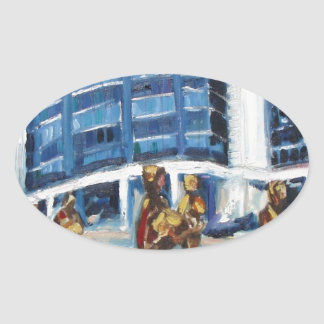 famine memorial oval sticker