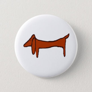 Famous Abstract Dachshund 2 Inch Round Button