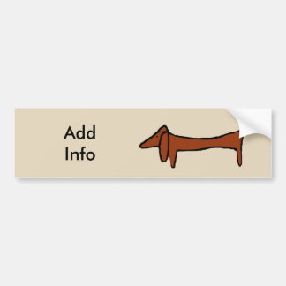 Famous Abstract Dachshund Bumper Sticker