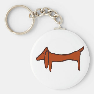 Famous Abstract Dachshund Keychain