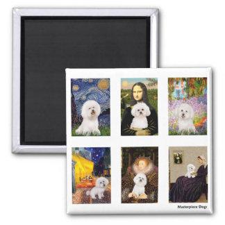Famous Art Bichon Frise Composite (clear) Magnet
