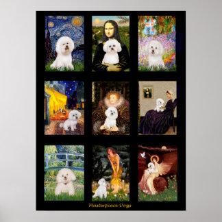 Famous Art Bichon Frise Composite Poster