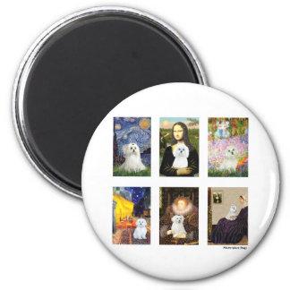 Famous Art Maltese Composite (clear) Magnet