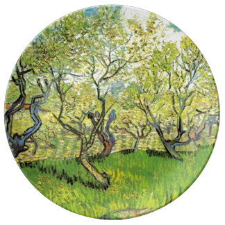 Famous art, Orchard in Blossom by Vincent van Gogh Porcelain Plate
