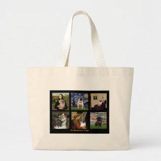 Famous Art Pug Composite #1 Large Tote Bag