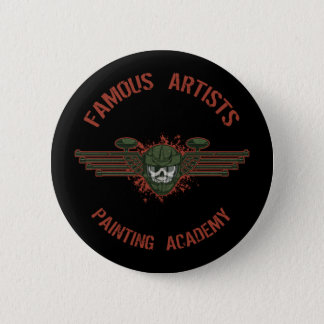 Famous Artists Paintball 2 Inch Round Button