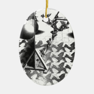 famous black & white draw ceramic ornament