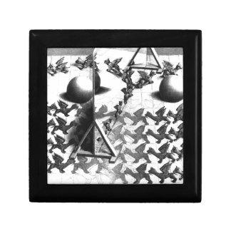 famous black & white draw gift box
