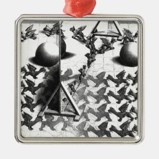 famous black & white draw metal ornament