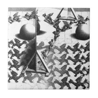 famous black & white draw tile