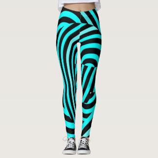 Famous Blue Tiger Stripes Leggings