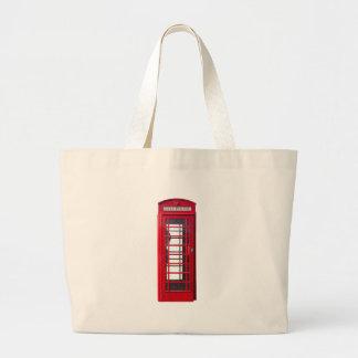 Famous British red telephone booth box Jumbo Tote Bag