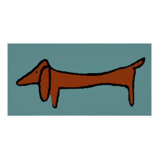 Famous Brown Abstract Dachshund Poster