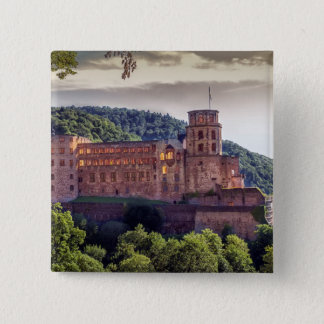 Famous castle ruins, Heidelberg, Germany 2 Inch Square Button