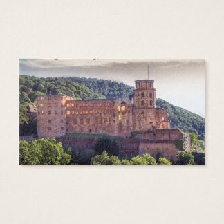 Famous castle ruins, Heidelberg, Germany Business Card