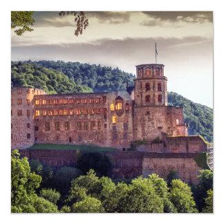 Famous castle ruins, Heidelberg, Germany Card