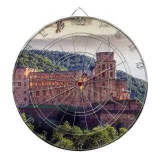 Famous castle ruins, Heidelberg, Germany Dartboard