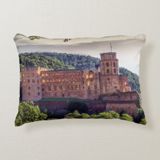 Famous castle ruins, Heidelberg, Germany Decorative Pillow