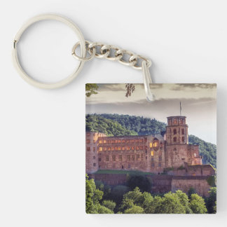Famous castle ruins, Heidelberg, Germany Double-Sided Square Acrylic Keychain