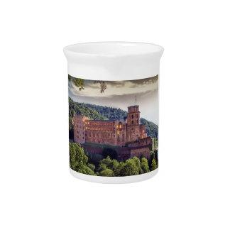 Famous castle ruins, Heidelberg, Germany Drink Pitcher