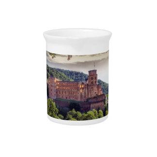 Famous castle ruins, Heidelberg, Germany Drink Pitchers