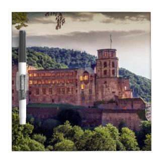 Famous castle ruins, Heidelberg, Germany Dry Erase Board