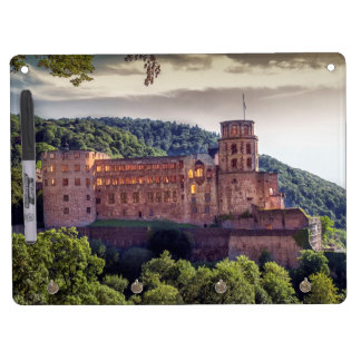 Famous castle ruins, Heidelberg, Germany Dry Erase Board With Keychain Holder
