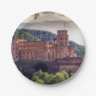 Famous castle ruins, Heidelberg, Germany Paper Plate