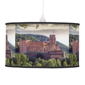 Famous castle ruins, Heidelberg, Germany Pendant Lamp